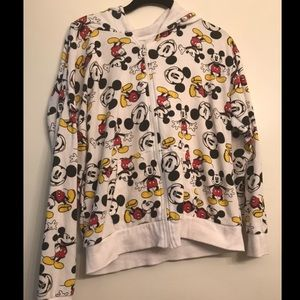 Disney Mickey Mouse Graphic White Hoodie size M